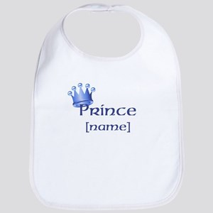 Prince with Personalized name Bib